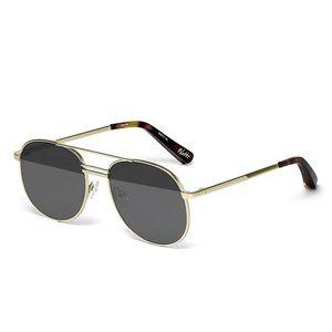 Elizabeth and James Watts Sunglasses. black & gold